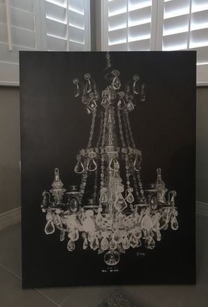 Large black and white chandelier canvas new for Sale in Phoenix, AZ