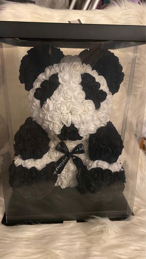 Fake flowers teddy bear (Panda )🐼 for Sale in Moreno Valley, CA