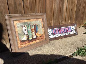 Cowgirl decor for Sale in Carrollton, TX