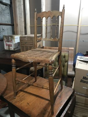 Antique chair with cane seat for Sale in Seattle, WA