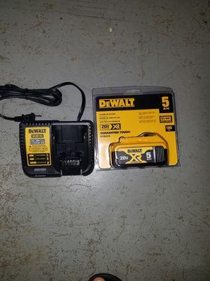 New dewalt 20v MAX XR 5.0ah battery and charger for Sale in Brambleton, VA