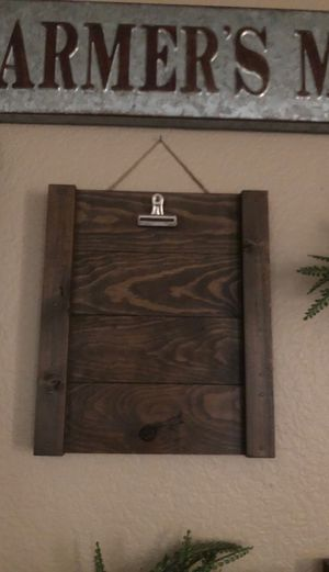 Wooden clipboard wall Decour for Sale in Ontario, CA