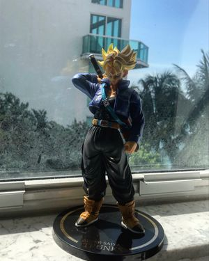 Super Saiyan Trunks Gold Plate - Dragon Ball Z | DBZ DBS Super Figure Figurine Model Statue Collectible for Sale in Miami Beach, FL
