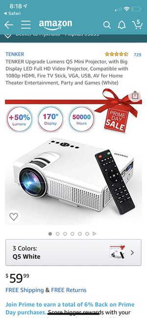 Tenker Q5 Mini Projector for Sale in Los Angeles, CA