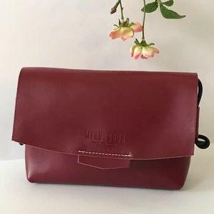 Red Crossbody flap leather handbag shoulder bag for Sale in GRANT VLKRIA, FL