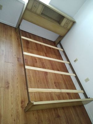 Full size wooden bed frame for Sale in Marion, IL
