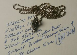 """Vintage Sterling Silver 18"""" Chain and Fairy charm size pendant sunwest maker for Sale in Laveen Village, AZ"""