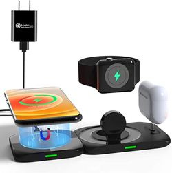 Aimtel Wireless Charger,4 in 1 Magnetic Charging Station for Apple Products Mag safe Charger Stand for iPhone 12/Pro/Pro Max/Mini/11 X XS XR,Apple Wat for Sale in Missouri City,  TX