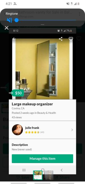 Large makeup vanity for Sale in Covina, CA