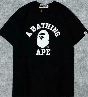 Men's Bape Monkey head Ape Letter Shirt Black XLarge for Sale in Bakersfield, CA