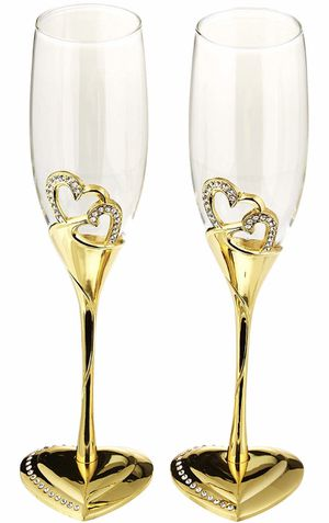 s Stunning Wedding Toasting Flutes/Champagne Glasses wedding party decor for Sale in Falls Church, VA