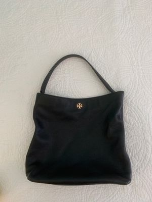 Tory Burch, black leather hobo bag for Sale in Upper Arlington, OH