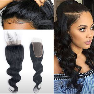 Brazilian Body Wave Real Human Hair Lace Closure Free Part 4x4 Lace Top Closure for Sale in Arlington, VA