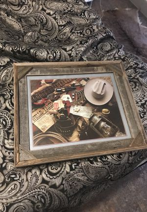 Western picture and frame for Sale in Austin, TX