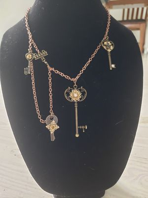 Art Deco Key Necklace with Various Key Charms- versatile look change! for Sale in Nashville, TN