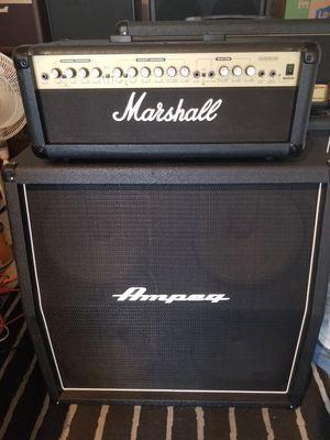 "Marshall G100R CD Guitar AMP & Ampeg 4X12"" 240WATT CAB for Sale in Rancho Santa Margarita, CA"