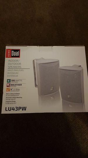 Home dual indoor and outdoor speakers for Sale in Williamsburg, MI
