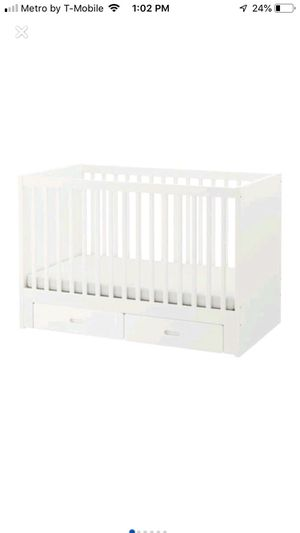 Ikea baby crib with 2 bottom green drawers for Sale in Philadelphia, PA