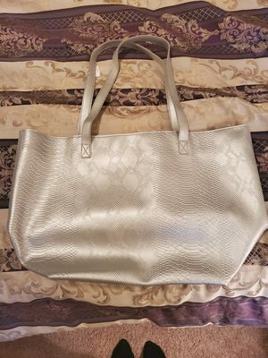 Large silver tote bag for Sale in TEMPLE TERR, FL