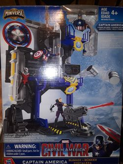 New Boys/Kids Captain America playset Comes with Captain America Action Figures for Sale in Stockton,  CA