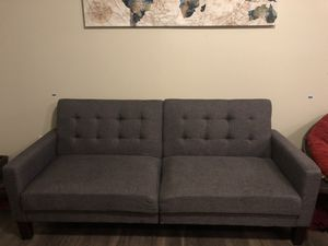 College Ready Grey FUTON! GREAT starter couch! $200 OBO for Sale in San Marcos, TX