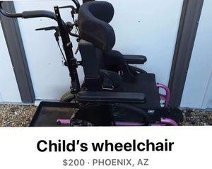 Child's wheelchair for Sale in Glendale, AZ