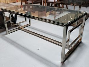 Chrome glass coffee table for Sale in San Leandro, CA