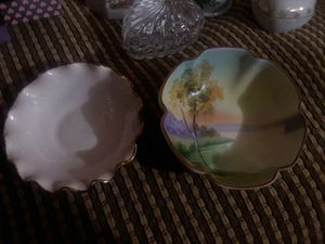 vintage small handpainted bowl and plate for Sale in Hesperia, CA