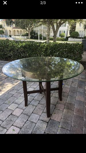 Great deal!!! Dark wood dining room table!! Must see for Sale in West Palm Beach, FL