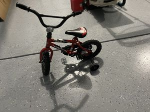 "Toddler boys bike 12"" inches with helmet move out sale for Sale in Harrisburg, NC"