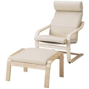 IKEA Poang chair with stool for Sale in Chevy Chase, MD