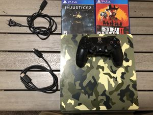 PS4 Slim 1TB Special Edition! Comes with one controller + Red Dead Redemption + Injustice 2 + all cables. for Sale in Las Vegas, NV