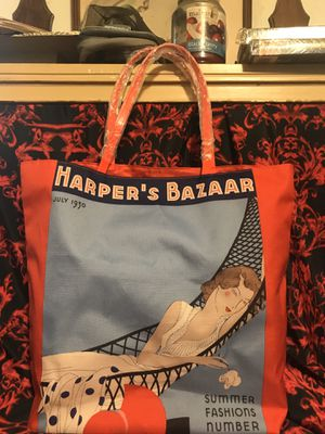 NEW ESTEE LAUDER/HARPER'S BAZAAR JULY 1930 MAGAZINE COVER Beach Tote/Shopping Bag for Sale in Conroe, TX