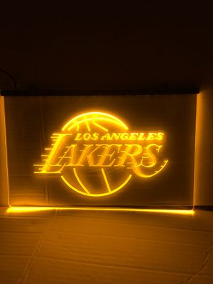 Los Angeles Lakers LED sign Lakers sign Lakers neon sign Lakers jersey Lakers hat for Sale in La Habra, CA