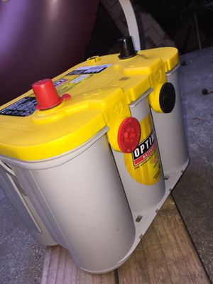 "Optima Battery YellowTOP high performance AGM Battery GEL"" 100% brand new for Sale in West Covina, CA"