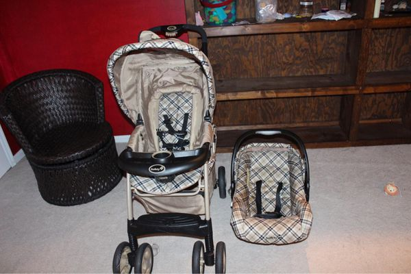 Kids training bike and car seat and stroller
