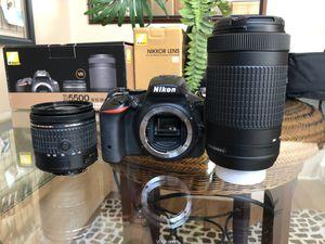 Nikon D5500 DSLR + Lens Kit for Sale in La Habra Heights, CA