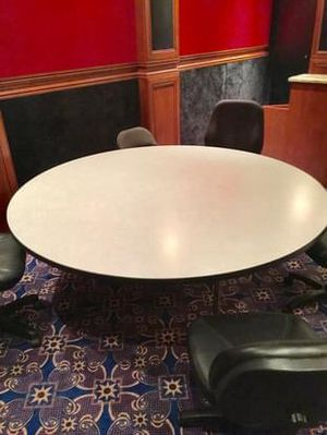 Round Table with 6 Black Chairs for Sale in Pembroke Park, FL