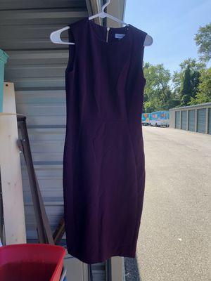 Calvin Klein, sheath sleeveless purple dress, zip up in back, size 2 for Sale in Glenshaw, PA