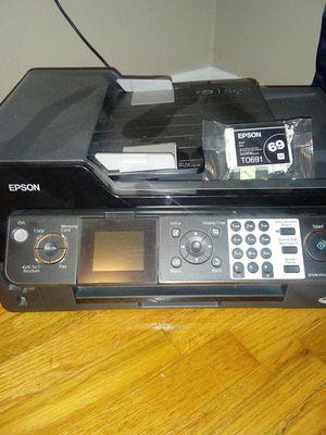 Espon printer with black ink cartridge for Sale in Hastings, NE