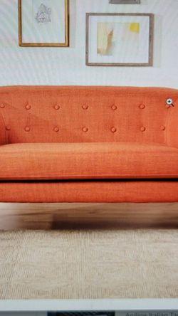 Christopher Knight Home Bridie Mid-Century Modern Loveseat, Muted Orange Fabric for Sale in Grand Prairie,  TX