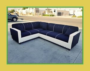 """new 7x9 ft """"Domino black combo"""" sectional couches for Sale in Los Angeles, CA"""