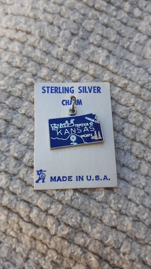 Kansas Vintage Sterling Silver Charm for Sale in Chandler, AZ