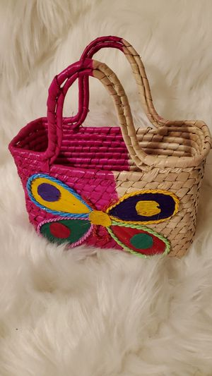 Mexican butterfly basket purse for Sale in Fresno, CA