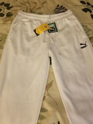 Brand new Men's white puma sweatpants for Sale in Orlando, FL