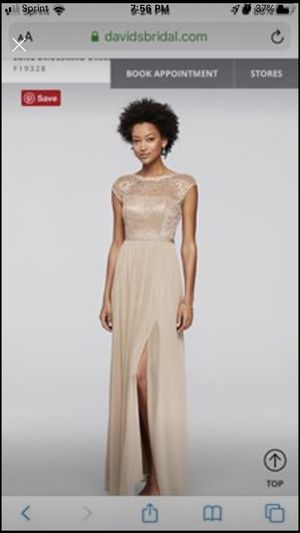 Long Bridesmaid prom Dress with Lace Bodice for Sale in Lexington, SC