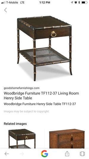 Antique furniture end table w/marble tile for Sale in Phoenix, AZ