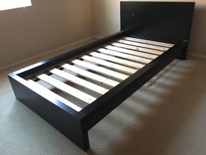 Black IKEA Bed Frame & Mattress for Sale in Moreno Valley, CA