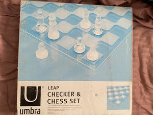 GLASS CHECKER AND CHESS SET for Sale in Watertown, MA