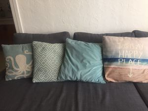 Turquoise beach nautical pillows decoration for Sale in Long Beach, CA